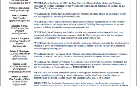 SGA Unanimously Passes Resolution On Course Cancellations