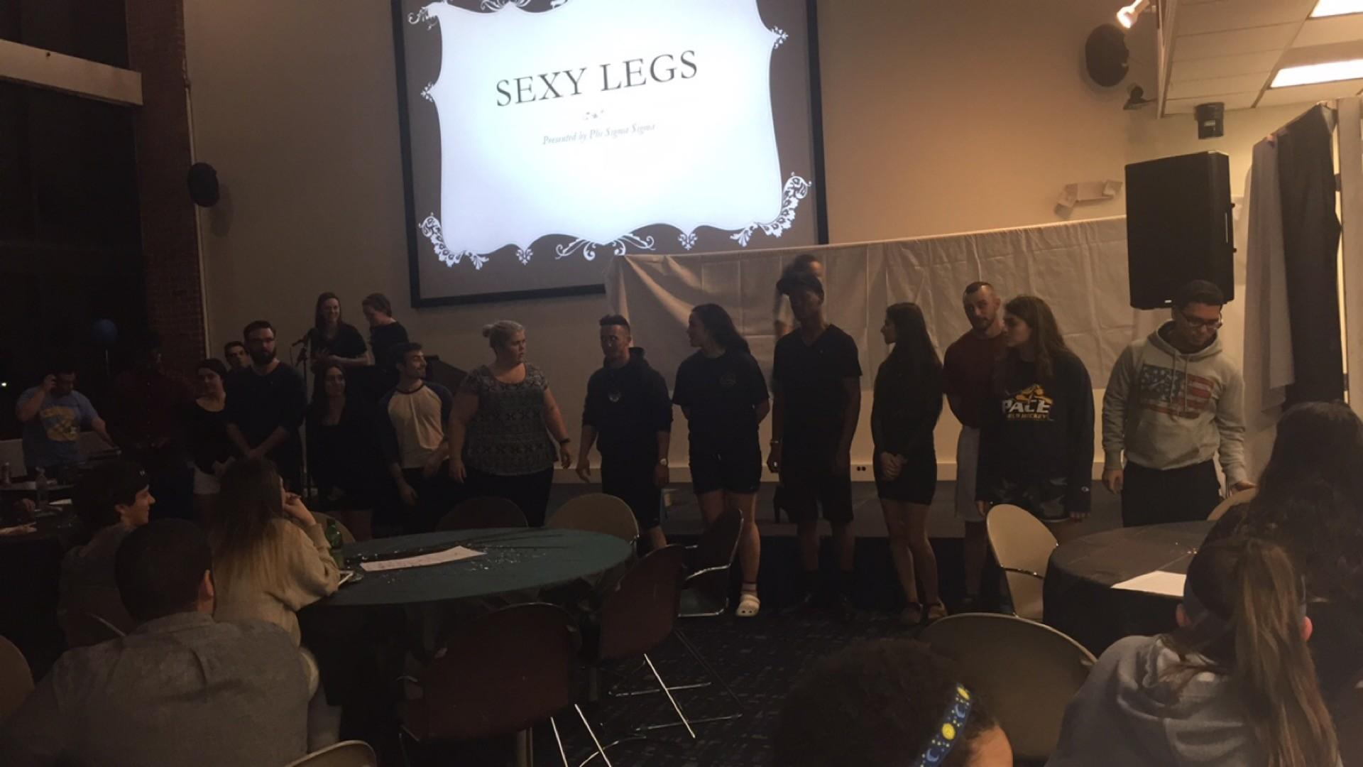 The contestants fully exposed after showing off their sexy legs.