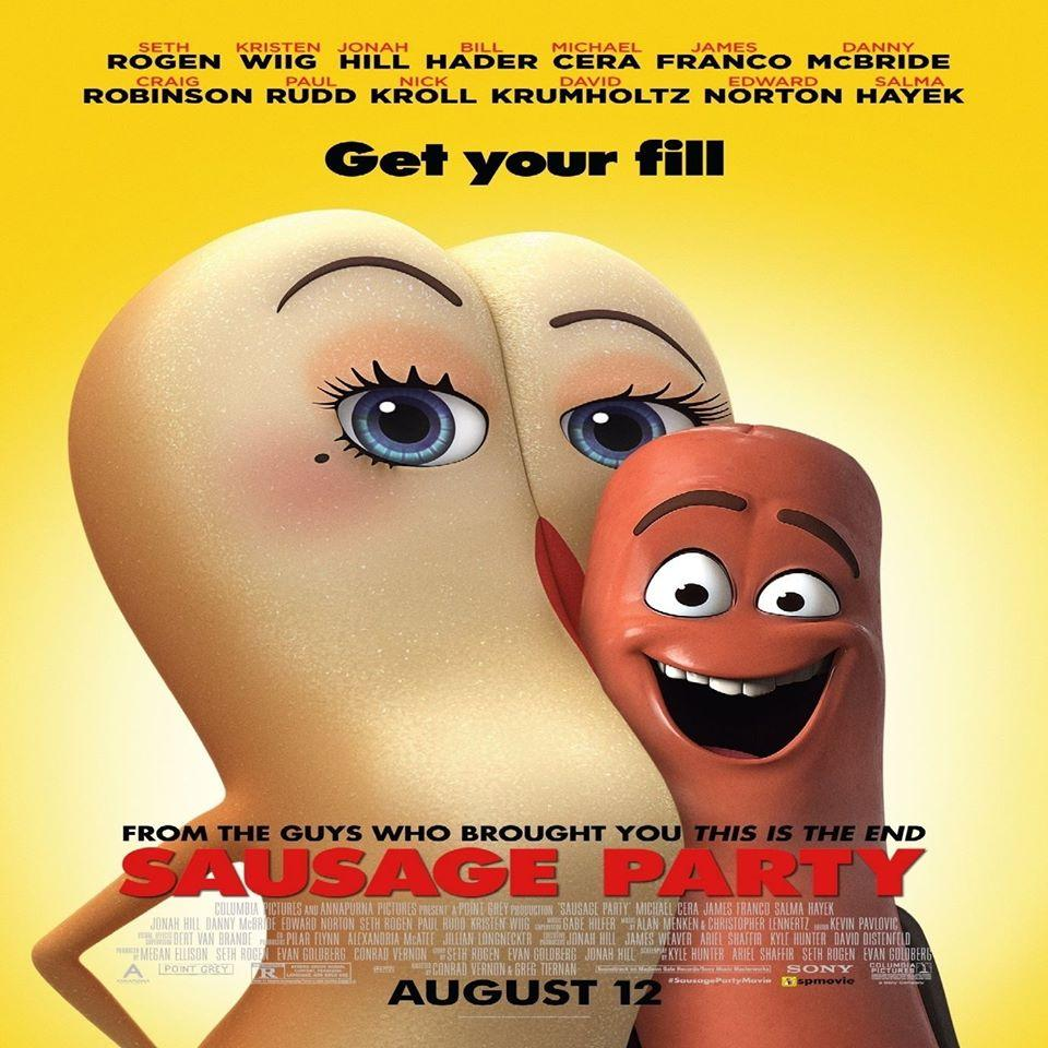 The movie poster for Sausage Party (photo courtesy of the Sausage Party Facebook page)