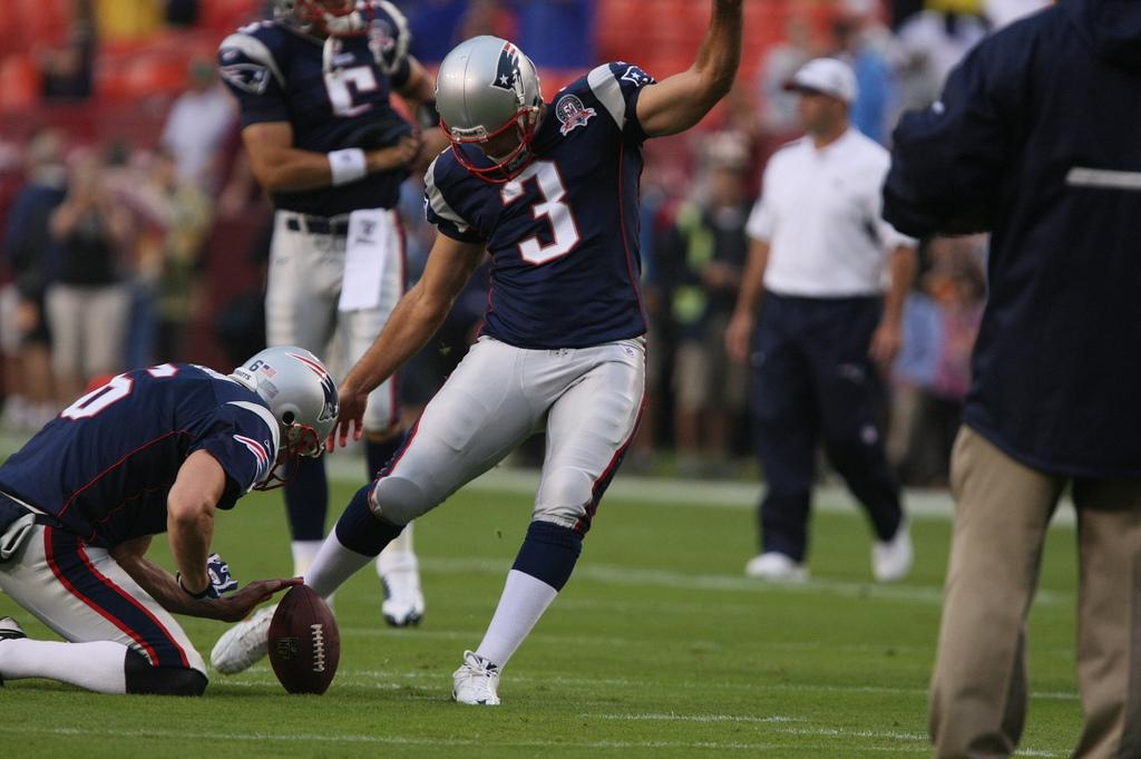 Stephen Gostkowski. Courtesy of Flickr.