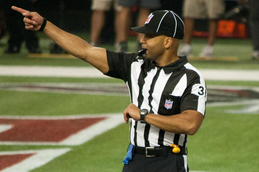 An NFL Referee. Courtesy of Flickr.