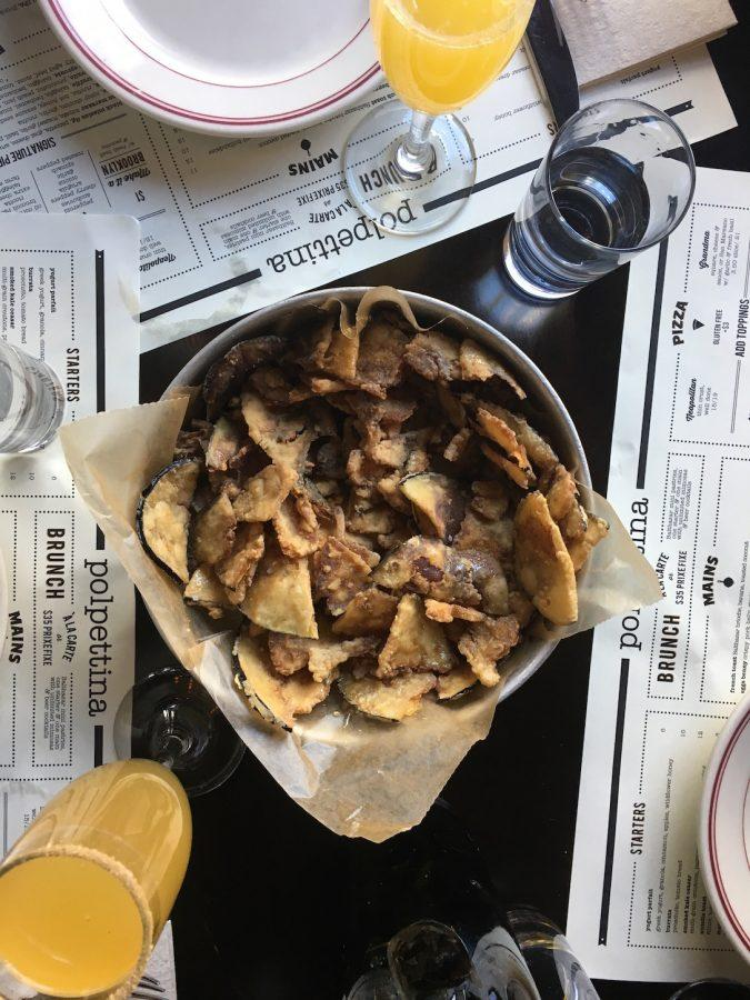 Eggplant Chips at Polpettina in Eastchester  (Photo by Michelle Ricciardi)