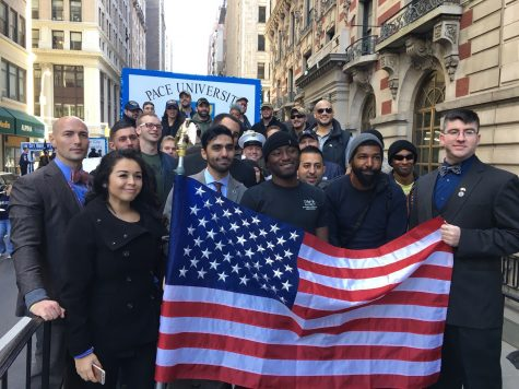 Student Veterans Celebrate Veterans Day at the NYC America's Parade
