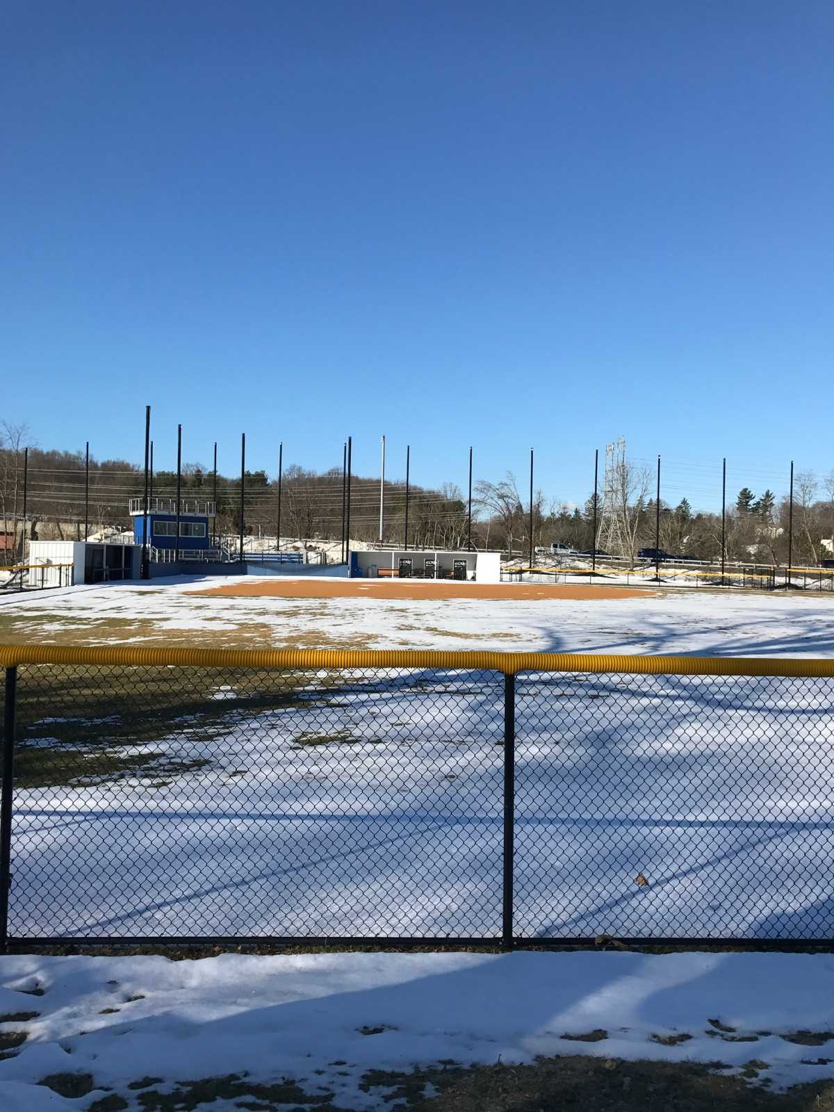 The softball field, which was recommended for an adjustment in netting due to a ball hitting a car on the Taconic State Parkway. Photo by Joseph Tucci.