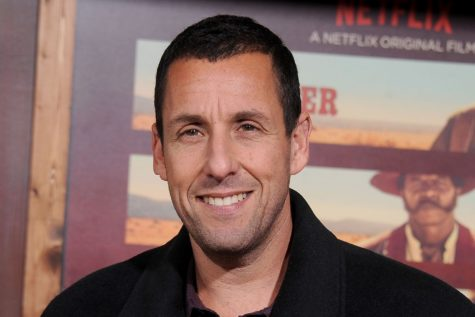 Sandler at premier for his Netflix Original movie The Do-Over. Courtesy of Entertainment Weekly.