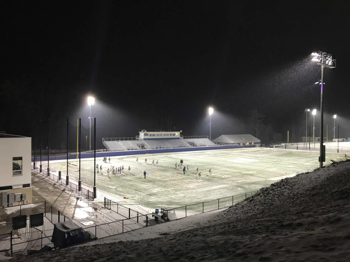 Pace's football field at night. Photo by Joseph Tucci