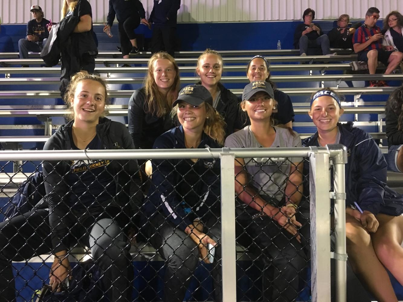 Some+fans+from+the+field+hockey+team+coming+to+support+at+the+soccer+game+%28Photo+Courtesy%3A+Kamryn+Gianfrancesco%29
