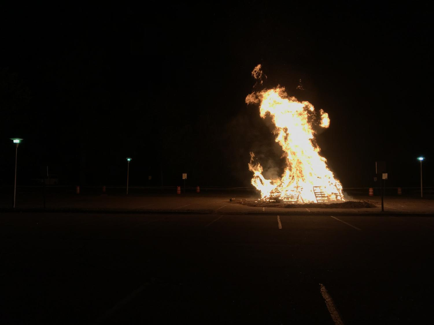 The bonfire at this year's