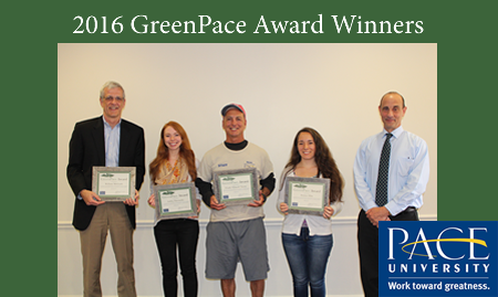 Angelo Spillo (farthest to the right) has been dedicated to Pace for over 41 years. Photo courtesy of Pace.edu