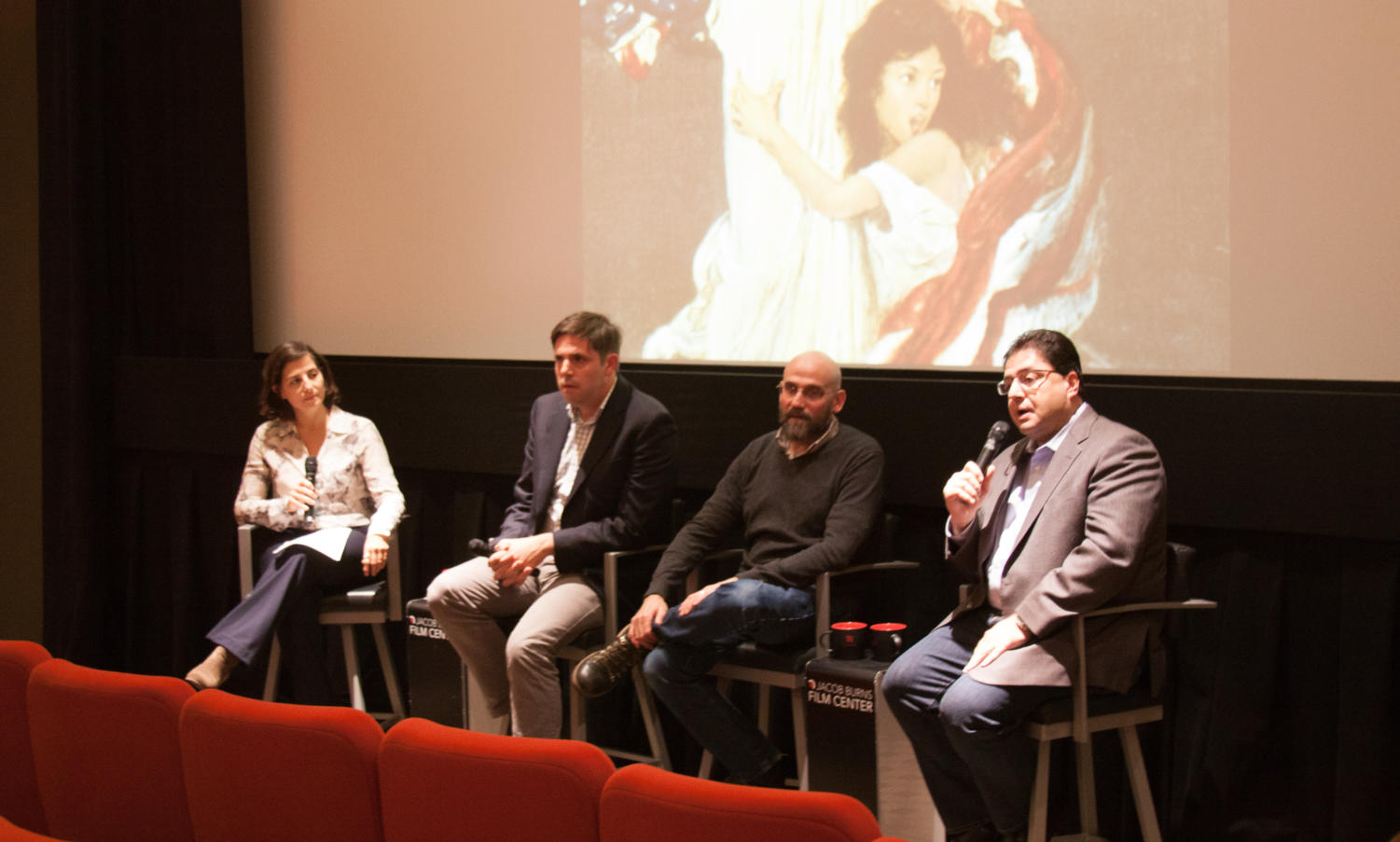A panel gathered at The Jacob Burns Film Center to discuss the Armenian Genocide. Photo by Jack Fozard
