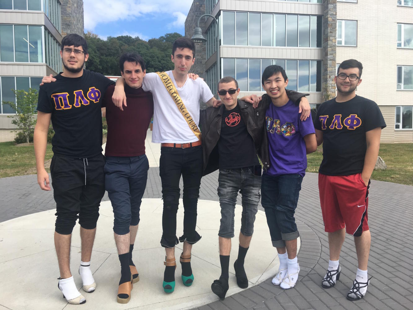 Brothers of Pi Lambda Phi at the Walk-A-Mile event