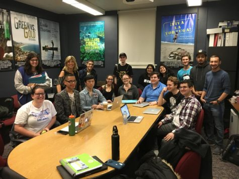 Students Gather at ABC to Watch Trump Victory