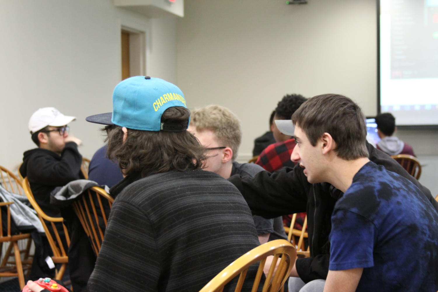 Students at game night. Photo by Jack Fozard
