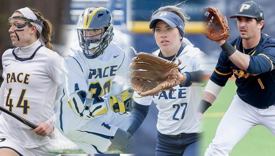 Pace+Men%27s+and+Women%27s+lacrosse%2C+Baseball%2C+and+Softball+teams+were+all+in+action+this+week.+Photo+Courtesy+of+Pace+Athletics.+