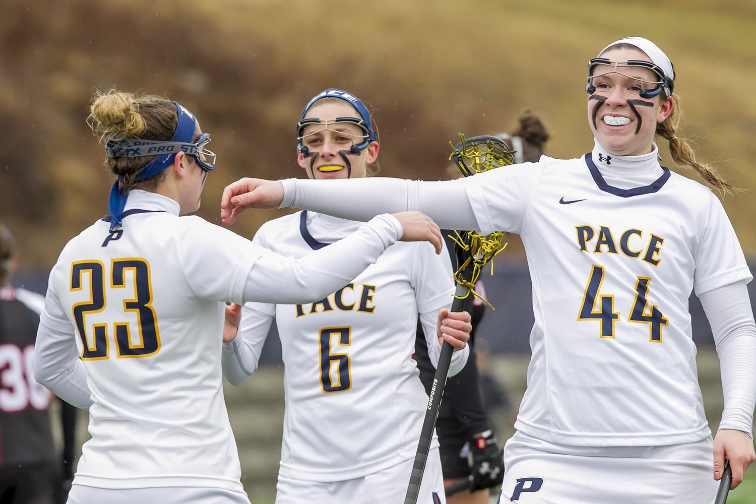 After a program record breaking 13 victories, the Women's Lacrosse team looks to win its first game in the NE-10 tournament. Photo Courtesy of Pace Athletics.