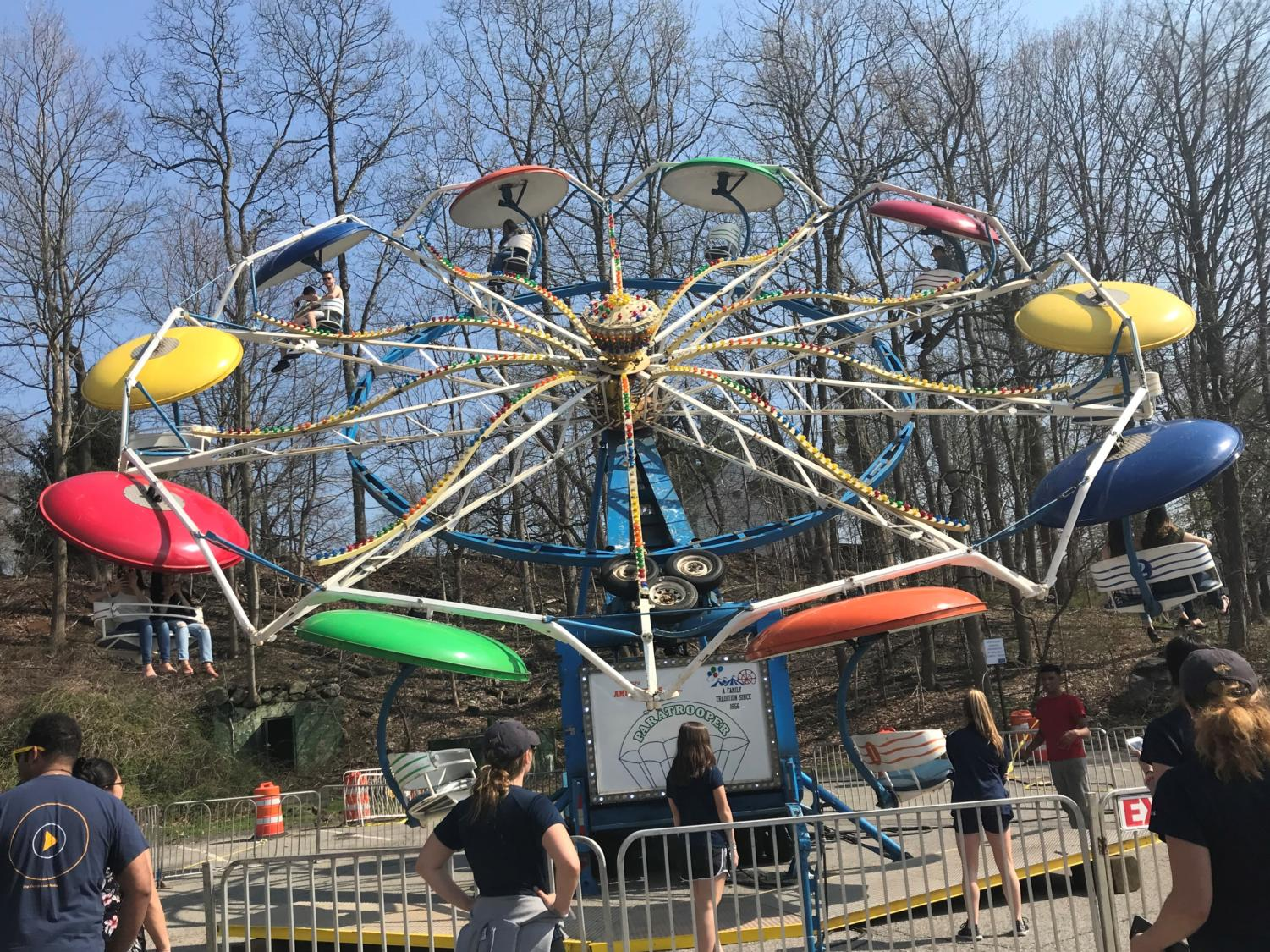 The Ferris Wheel; one of many rides that students enjoyed on Saturday afternoon during Programming Board's Spring Carnival