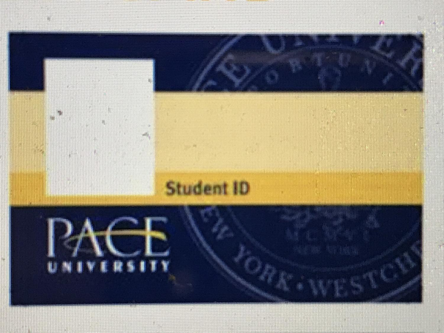Pace University's One Card. Photo taken by Josiah Darnell