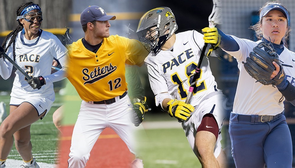 Two teams celebrated senior day, but more importantly, postseason is fast approaching for all four spring teams. Photo Courtesy of Pace Athletics.