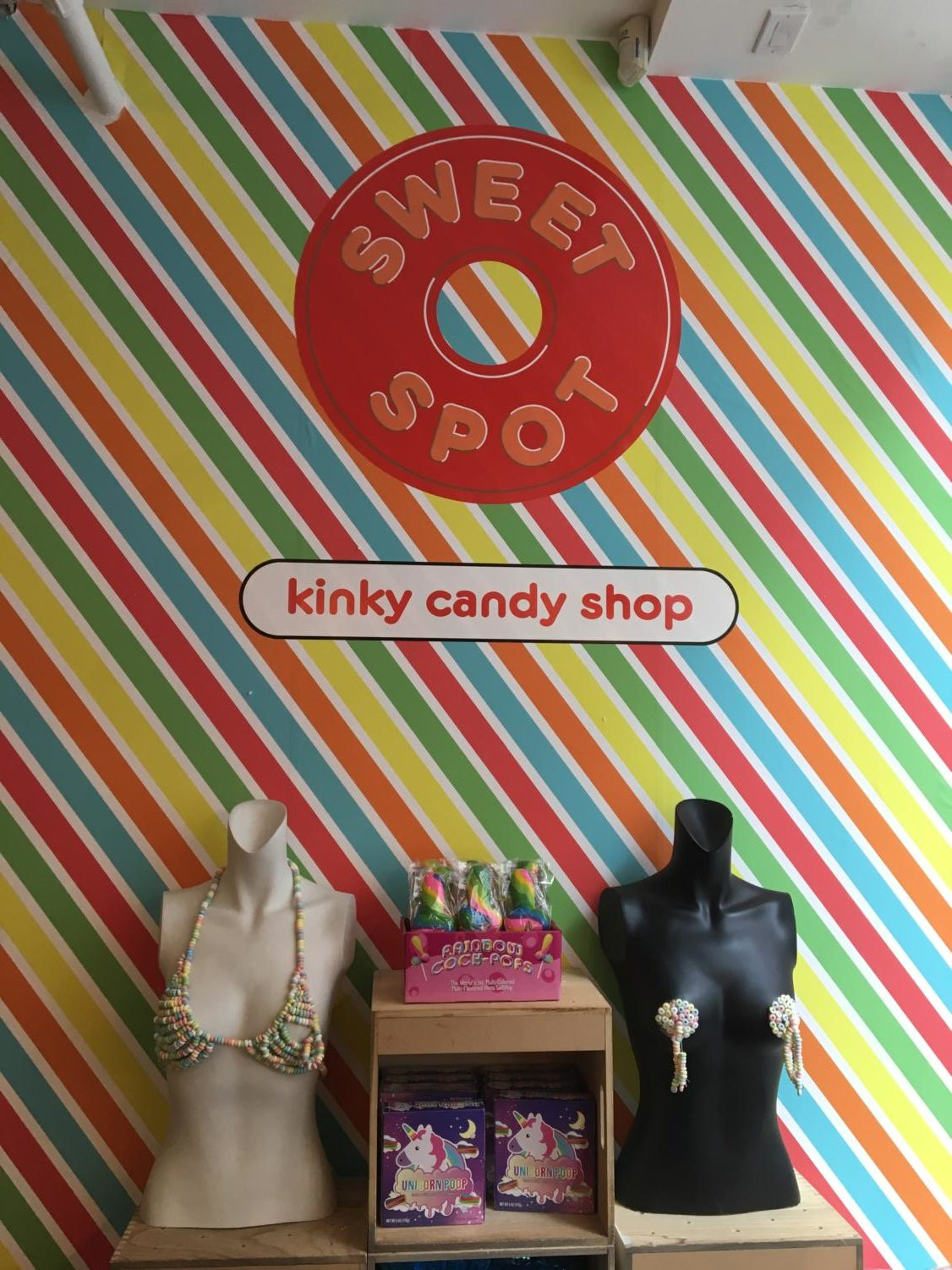 The Kinky Candy Shop was just one of the many displays at the Museum of Sex first-year students got to see this past Saturday. Photo by Emma Petras.