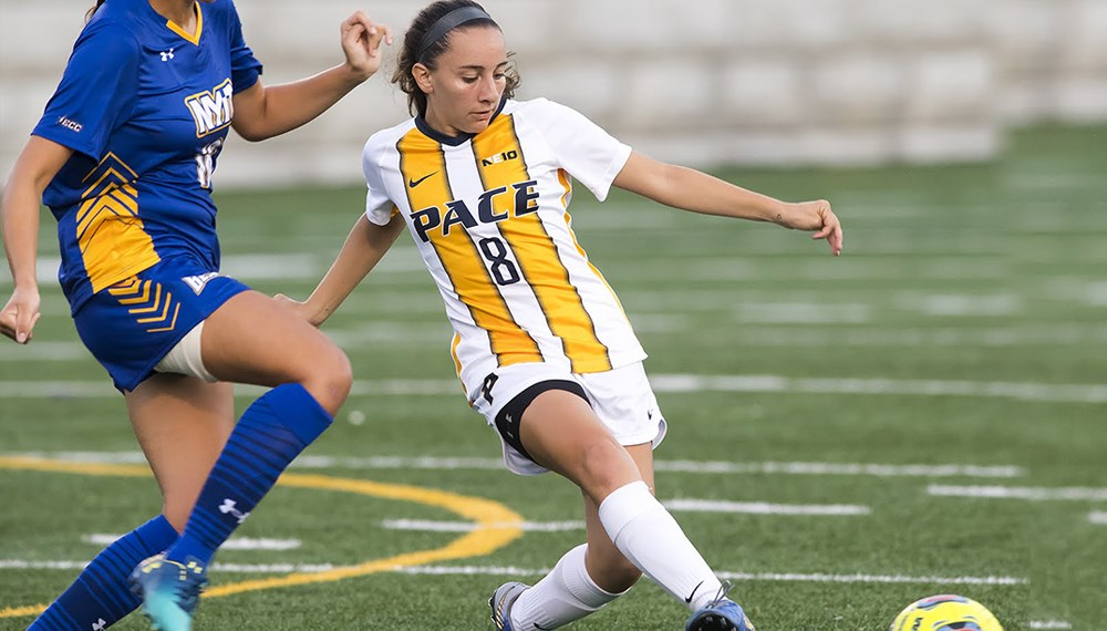 Freshman Isabel Villar's (above) assist that led to a score in the second half against Stonehill was a major, but short-lived highlight for the Setters in their 2-1 loss this past Saturday.