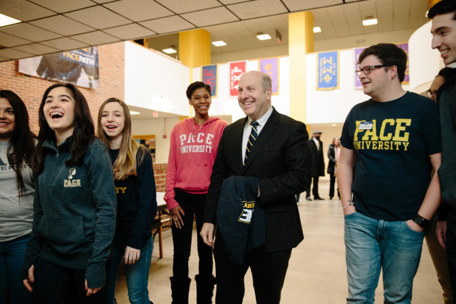 President+Krislov+at+the+Kessel+Student+Center.+
