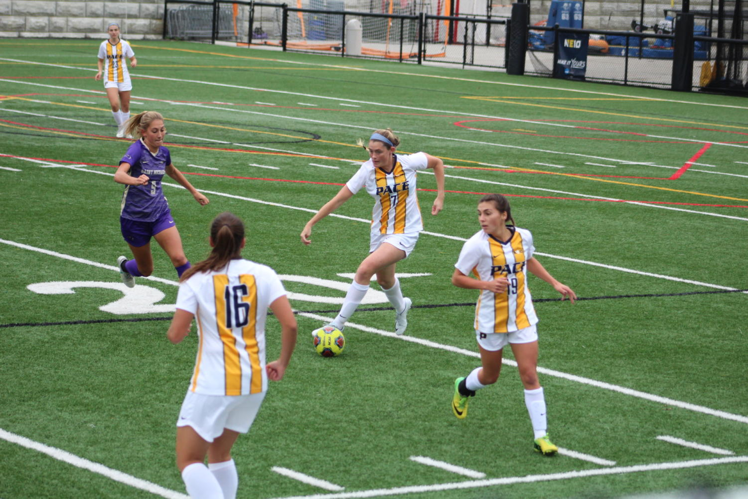 The women's soccer team fans see nearly twice a week is no longer the only women's soccer team at Pace.