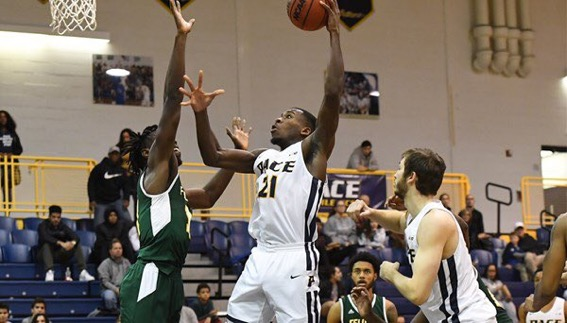 Senior forward Greg Poleon (above) was one of the players who led the way for the Setters  in their victory over Felician.