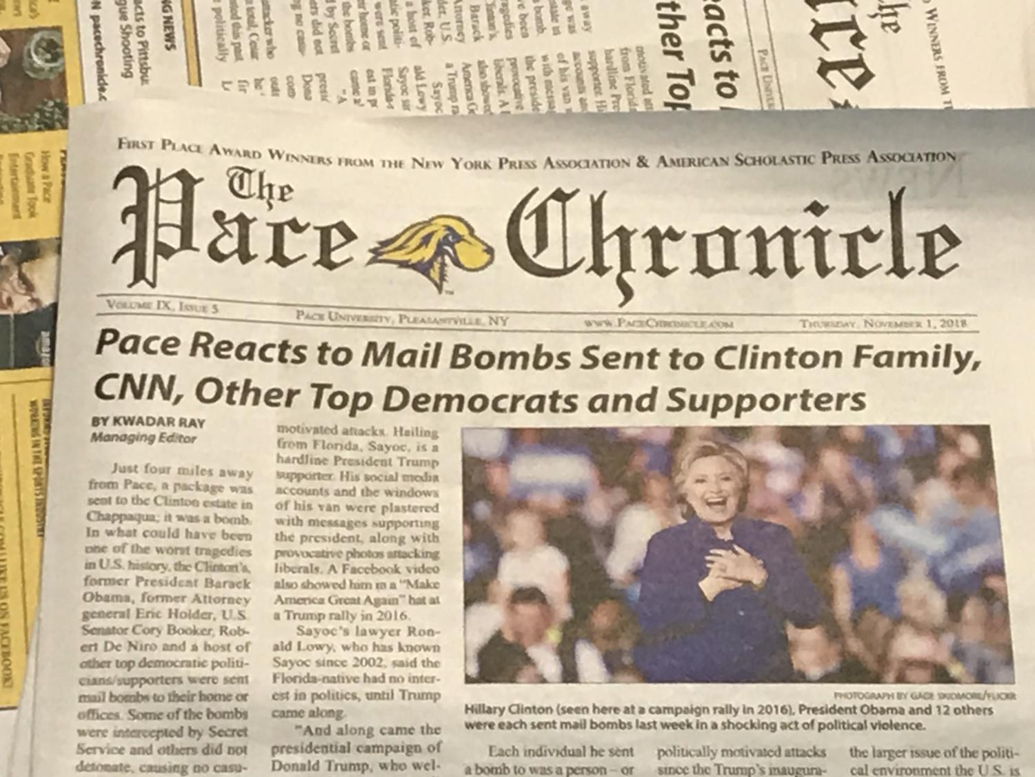 The Pace Chronicle's most recent print edition.