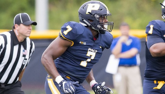 Defensive end Prince Unaegbu switched positions and proved to be a successful player on the defensive side of the ball.
