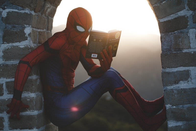 Superheroes%2C+such+as+Spiderman%2C+will+be+covered+and+discussed+in+a+historical+context+in+Dr.+Durahn+Taylor%27s+Spring+2019+course.+