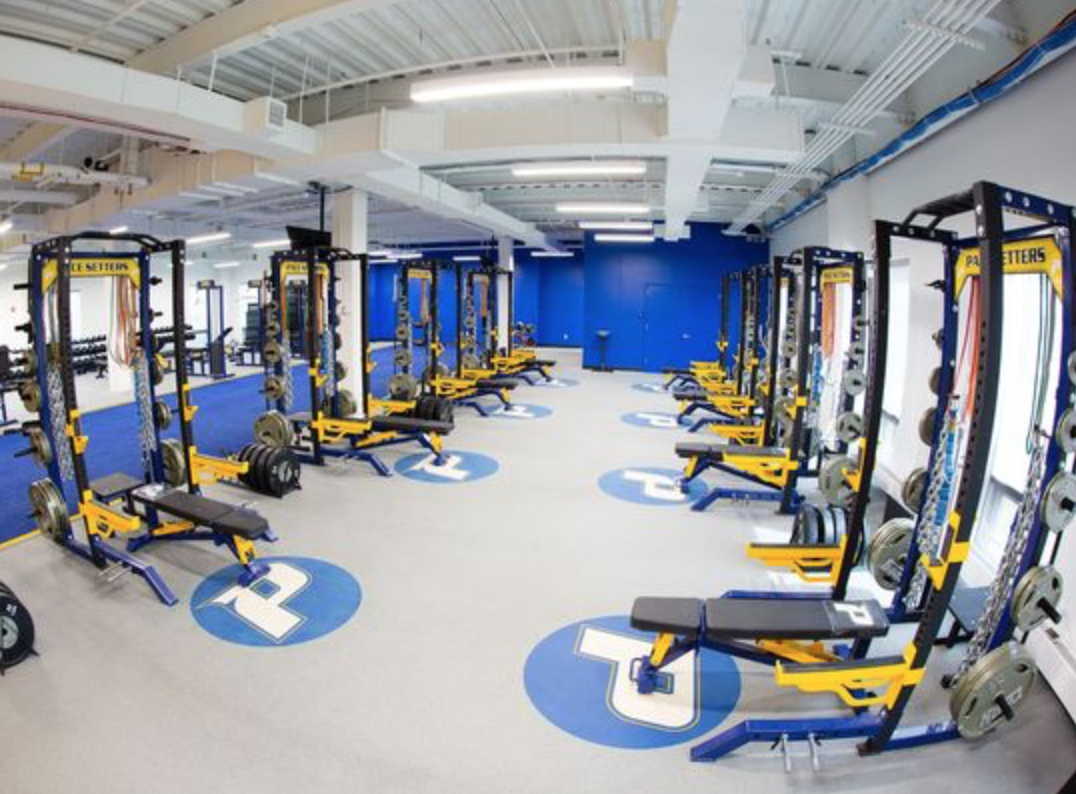 Inside the strength and conditioning room of the Ianniello Fieldhouse.