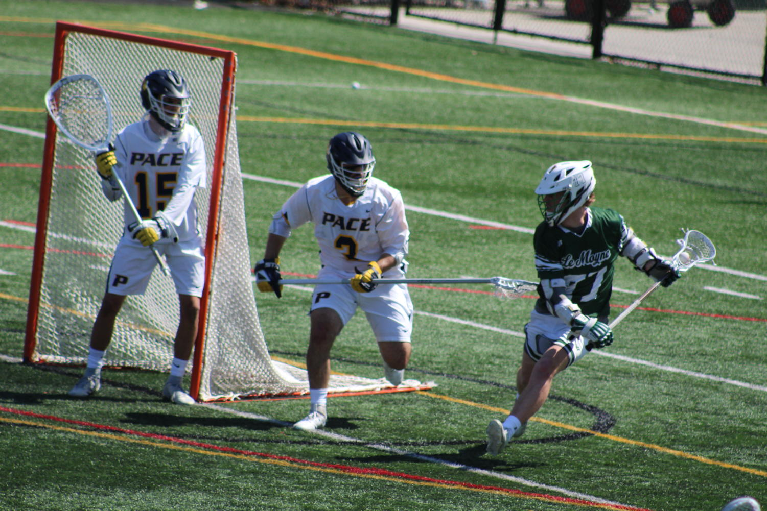 Pace men's lacrosse fell to sixth-ranked Le Moyne this past Saturday. Read about the other games that went down on the weekend.