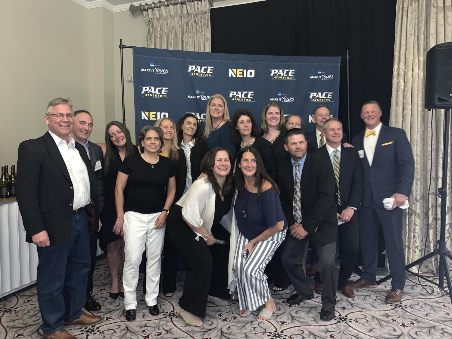 The Hall of Fame class of 2019 celebrate alongside the Pace Athletics community of past and present.