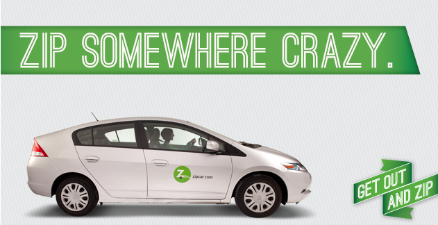 Zipcar advertisement. Photo courtesy of google.