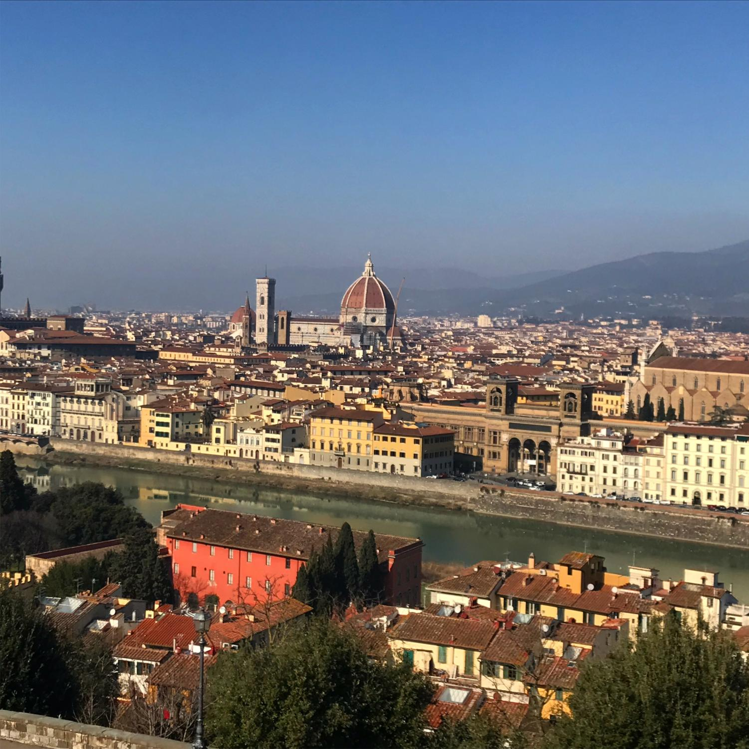View of Florence, where I lived and studied for four and a half months, from the Piazzale Michelangelo.