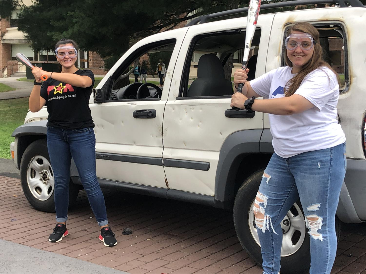 Executive Director, Christina Fonte and Communications Director, Shannon Kelly revealed that the car smashing was not a representative of anything, but rather was a fun way to kick off the school year.