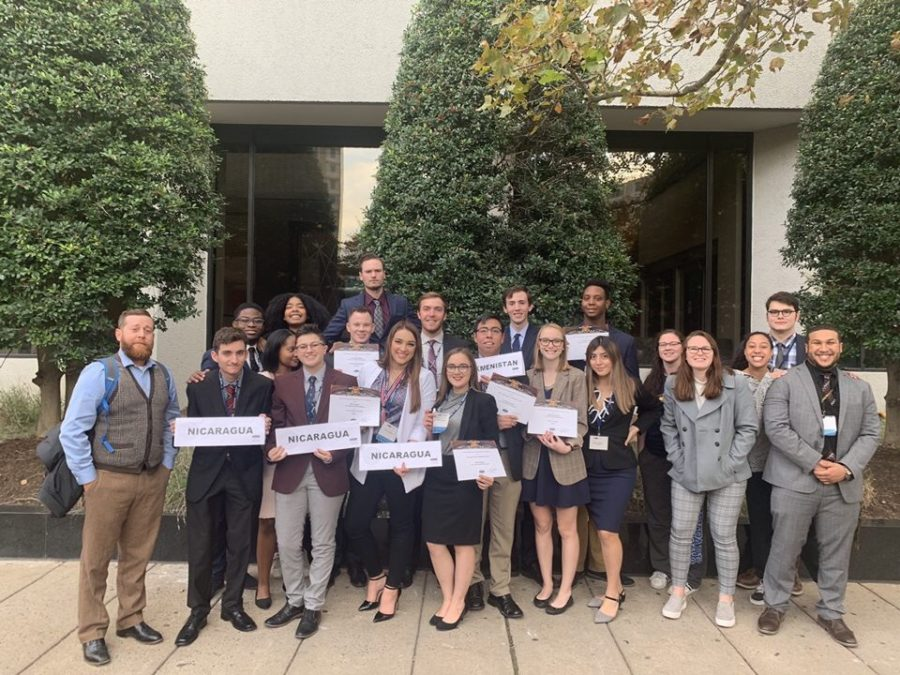 Students from Pace's Pleasantville campus at the Fall 2019 National Model U.N. Conference in Washington, DC.