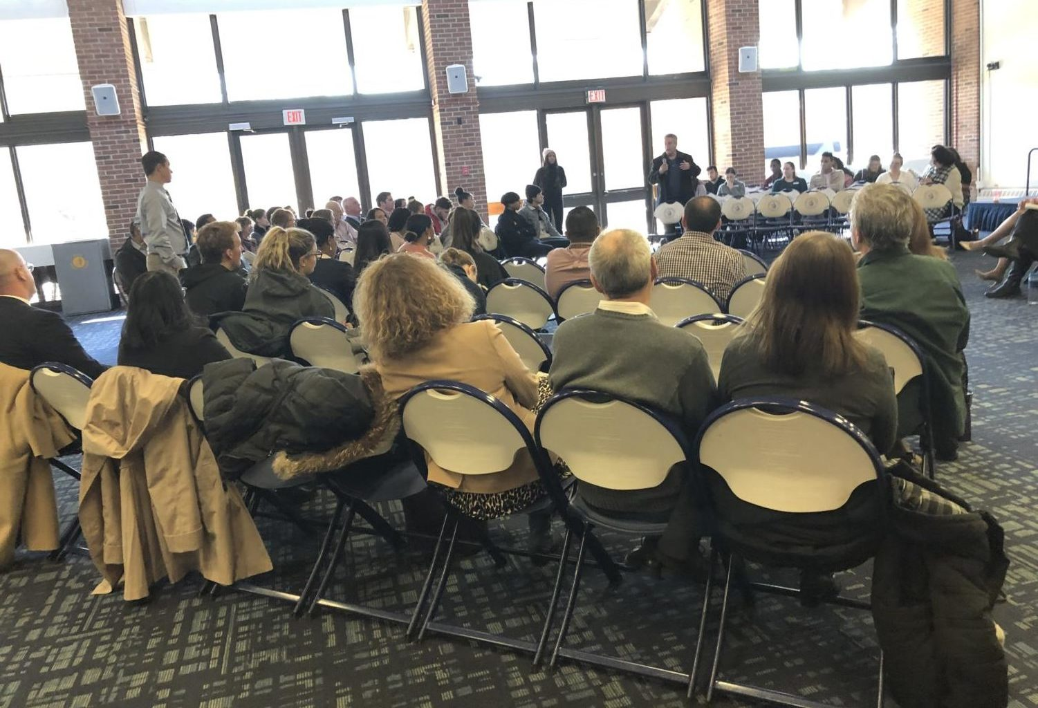 On Wednesday, November 13th, students and faculty got the chance to voice their questions and concerns about any and all aspects of university life at the Fall 2019 Pace Pleasantville Town Hall