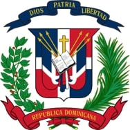 The coat of arms for the Dominican Republic, and the unofficial logo for the Dominican Student Association at Pace