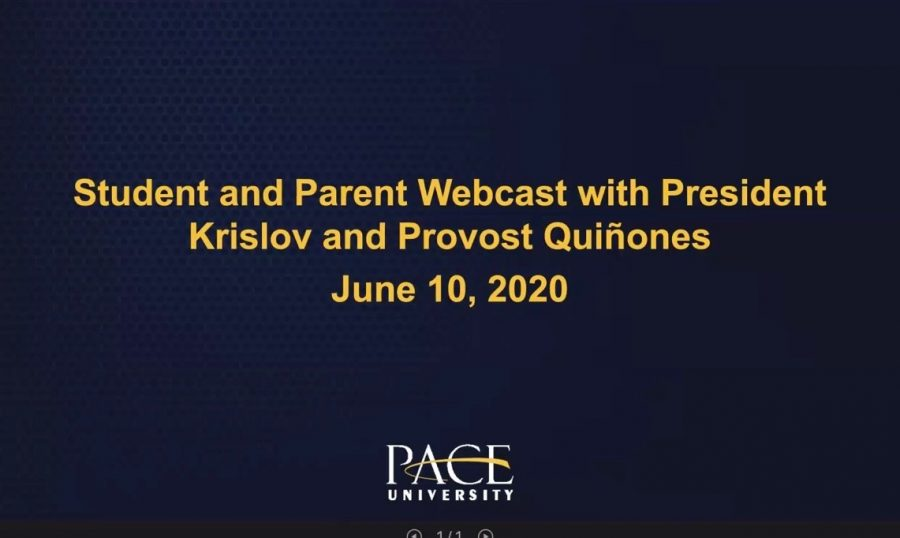 Pace hosted the first zoom informational session regarding how the university will be handling COVID-19 in the fall.
