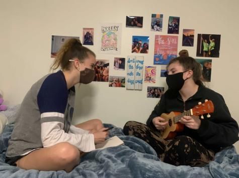 Roommates Sara Banasiak (left) and Kylie Karsay.