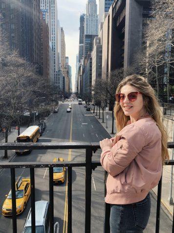 Marta Hasny poses in Manhattan. Hasny traveled to explore the streets of the city every week. (Courtesy of Marta Hasny)