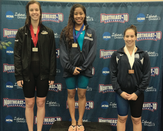 Pace Swimming And Diving Set Records At NE-10 Championships Weekend