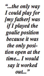 Spotlight: A Goalie's Love Of The Game