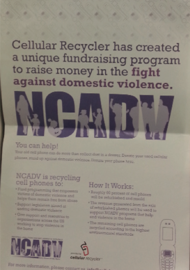 Mortola Library Collects Cell Phones For NCADV