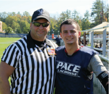 Scioscia plans to follow in the footsteps of the men in his family, as  he prepares for the police academy and hopes to work as a referee  for lacrosse