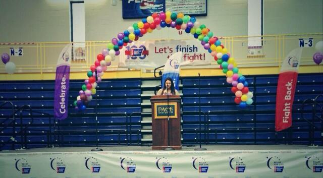 Senior Brenna Crowe attended her first Relay For Life event where she made the Survivor Speech