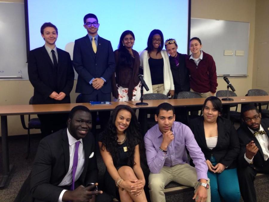 The newly elected Executive Board stands above this year's e-board and will look to them for advice next year.
