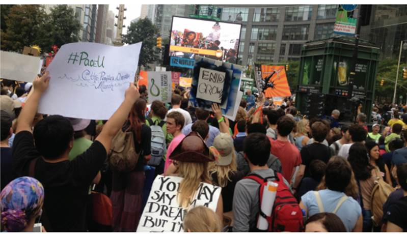 Pace participates in People's Climate march