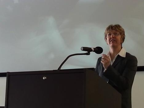 Jacqueline Battalora spoke at the 2015 MLK Brunch